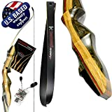Southwest Archery Spyder XL Takedown Recurve Bow – 64' Recurve Hunting Bow – Right & Left Hand – Draw Weights in 30-55 lbs – USA Based Company – Perfect for Beginner to Intermediate SpyderXL-50R-WS
