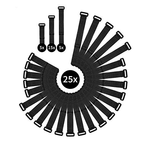 WINTEX 25 fascette serracavo riutilizzabili e di prima qualit, fascetta serracavo con chiusura con...