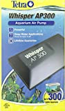 Tetra Whisper AP300 aquarium Air Pump, For Deep Water Applications, Black, Up to 300-Gallons