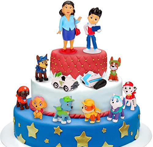 Decoración para tarta, minifigura de Patrulla Canina, 12 mi
