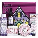 Body & Earth Set de regalo para mujer, baño, spa en casa, 6 piezas, mantequilla corporal, crema de manos, gel ...
