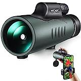 K&F Concept Jumelle Monoculaire 12X50 HD Étanche BAK4 Prisme Revêtement Vert Téléscope avec...