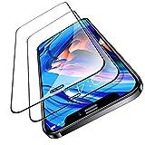 TORRAS iPhone 12 用ガラスフィルム iPhone 12 Pro 用ガラスフィルム 全面保護 【2枚セット】【ガイド枠・ヘラ付き】日本製強化9Hガラス/貼り付け簡単/2020年6.1インチ用 アイフォン12/12 Pro用 保護フィルム