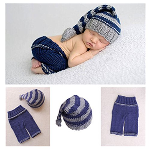 Newborn Baby Photo Shoot Props Girl Boy Crochet Knit Hat Costume...