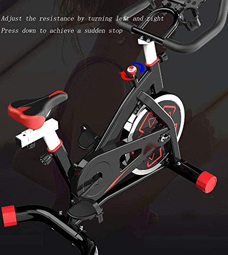 YFFSS Exercise Bikes, Indoor Cycling Bike with Home Ultra-Quiet Pedal Sports Fitness Bicycle Exercise Equipment,Professional Adjustable Indoor Lose Weight Spinning Fitness Bike (Color : White) 6