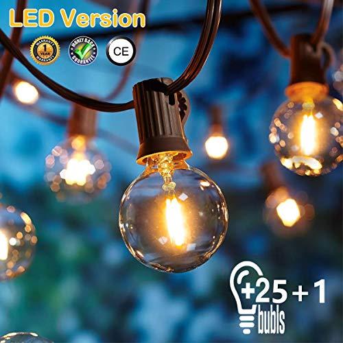 Catene luminose Esterno,[LED Versione] OxyLED G40 9metri 25+1 lampadine luci all'aperto Della Corda...