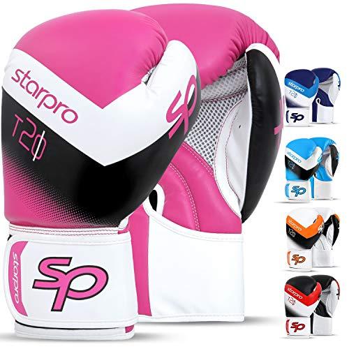 Starpro Guantoni Boxe per Kick Boxing Muay Thai Sparring Guanti Sacco Boxe Allenamento Pelle...