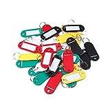 Sonline 30 ¡Á etiquettes colorees de porte-cles/en plastique/avec la carte de nom, ideal pour les...