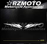 BLOUR Pegatina Nuevo RZMOTO Motocicleta Ruedas de Coche Pintura Calcomanía Logo Pad Carenado Racing para Yamaha R1 R6 TMAX R25 R3