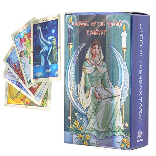 Wheel Of Year Tarot, 78 Classic Hologram Tarot Cards, Tarot...