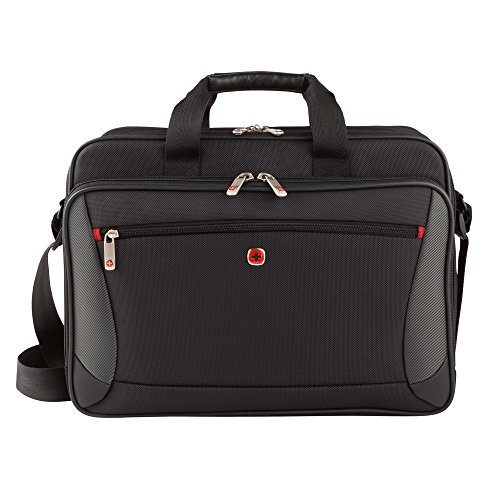 Wenger Luggage Mainframe 15.6' Laptop Brief Bag, Black, One Size
