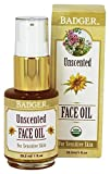 Badger, Face Oil Unscented Organic, 1 Ounce