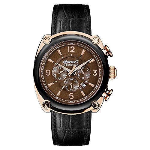 Ingersoll Herren Analog Quarz Uhr mit Leder Armband I01202