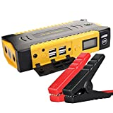 SDSPEED (Just Item for Multi Function) High Capacity Car Jump Starter 18000mAh 800A Peak Booster Battery Charger 4 USB Power Bank LCD Screen Compass Led Flashlight for Camping, Emergency Multi Tools