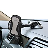 Car Phone Mount,OHLPRO Cell Phone Holder Car Dash Windshield Dashboard Universal 360°Adjustable Rotating for iPhone Samsung Sony Google All 4'- 6.4' Smartphones (Silver)