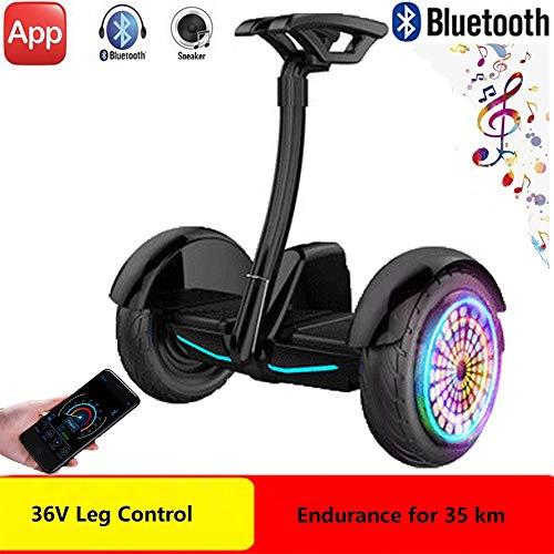 DTTKKUE Hoverboard 36V 10 Pollici Ruote Offroad con Bluetooth Speaker E Biciclette App Elettrico...
