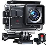 Victure Action Camera AC700 4K 30fps/20MP EIS Sports Action Camera PC Webcam with External...