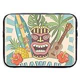 Plantilla de diseño de póster Retro Hawaii Bolsas para Laptop 15 ″ Netbook Tablet, maletín con Funda para el Bolso Funda