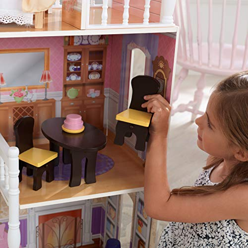 Image 5 - Kidkraft - 65023 - Maison de Poupées en Bois Savannah Incluant Accessoires et Mobilier, 4 Étages de Jeu pour Poupées 30 cm