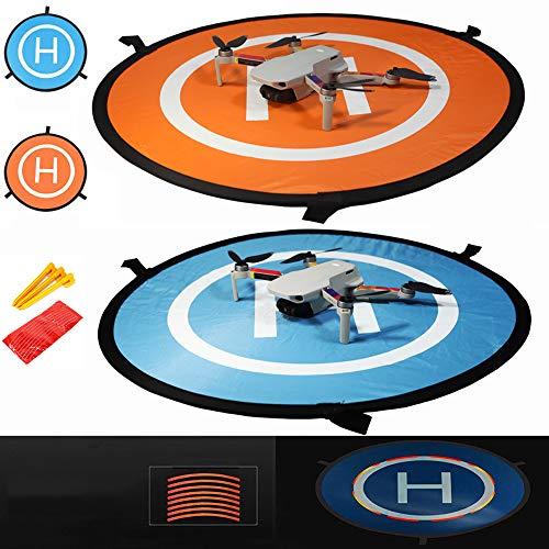 iMusk 55cm Piattaforma di Atterraggio per Droni, Morbida per Tappetini di Lancio per Aerei RC in Nylon Impermeabile Ecologico per DJI FPV, DJI Mavic Mini 2, Spark, Mavic 2 PRO, Mavic Air 2 Accessori