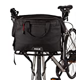 Two Wheel Gear - 4 in 1 Dayliner Box Bag (20 Liter) - Water Resistant Bike Bag for Handlebars, Rear Trunk, Front Rack or Carried as Roll Top Messenger - Black