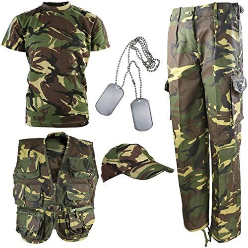 Kombat UK per Bambini DPM Camouflage Explorer Army Kit - Vestito Mimetico da Esploratore, Bambino, DPM, Camo, 11-12 Anni