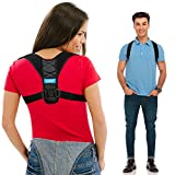 Posture Corrector for Men and Women - Upper Back Straightener Brace, Clavicle Support Adjustable Device for Thoracic Kyphosis and Providing Shoulder - Neck Pain Relief(Fits Chest Size 35' - 41')