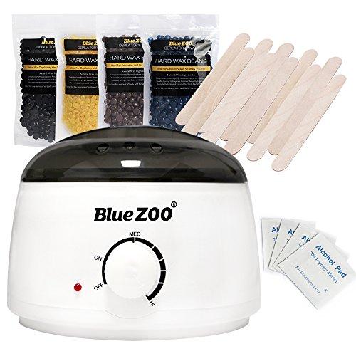 Bluezoo Waxing Kit Electric Wax Warmer with Hard Wax Beans...