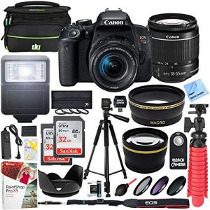 Canon-T7i-EOS-Rebel-DSLR-Camera-with-EF-S-18-55mm-is-STM-Lens-and-Two-2-32GB-SDHC-Memory-Cards-Plus-58mm-Wide-Angle-Telephoto-Lens-Tripod-Cleaning-Kit-Accessory-Bundle
