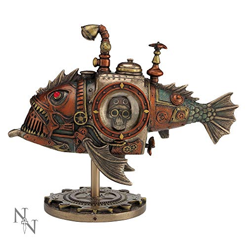 Nemesis Now Sub Piranha Figurine 22.5cm Orange, Resin (Kitchen & Home)