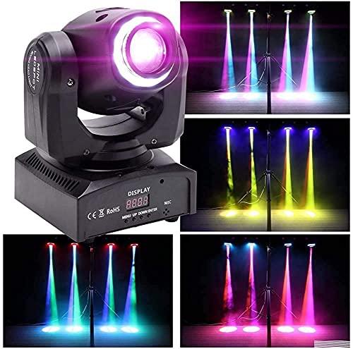 Moving Head DMX-512 - Luci da palcoscenico, 10/12 canali, 50 W, luce dj, con suono attivato, per DJ e discoteca, colore nero
