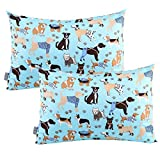 UOMNY Kids Toddler Pillowcases 2 Pack 100% Cotton Pillowslip Case Fits Pillows sizesd 13 x 18 or 12x 16 Bedding Pillow Cover for Sleeping Kids Bedding Pillow Cover Dog Kids' Pillowcases