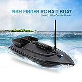 Portable Fishing Bait Boat 1.5kg Loading 500M/1640FT Remote Control RC Fish Finder Bait Boat (Black)