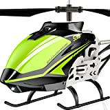 SYMA RC Helicopter, S39 Aircraft with 3.5 Channel,Bigger Size, Sturdy Alloy Material, Gyro Stabilizer and High &Low Speed, Multi-Protection Drone for Kids and Beginners to Play Indoor (Green)