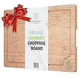 Planche à Découper Premium en Bambou 100% Bio Oliver's...