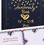 Wedding Anniversary Memory Book   A Hardcover Journal To Document Anniversaries From The 1st To the 50th Year   Unique Couple Gifts For Him & Her   Personalized Marriage Presents For Husband & Wife.