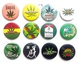 Marijuana Marihuana hierba impresionante calidad lote 12 nuevo Pin nuevo botn insignia 3.2 cm