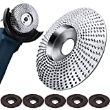 Angle Grinder Disc Wood Tungsten Carbide Grinding Wheel Carving Abrasive Disc and 5 Pieces Sanding Grinding Wheel Flap Discs for Sanding Carving Shaping Polishing Grinding Wheel Plate