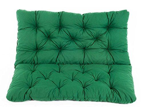 Meerweh, Bank Hanko Cuscino con schienale,Verde, 100 x 98 x 8 cm