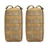 G4Free Lot de 2pochettes tactiques Molle compactes pour gadget, équipement - Pochette EDC de petite taille pour coffre, gilet, sacoche de selle - Pour le camping, la randonnée, le trekking, peau