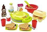 Jouets Ecoiffier – 2631 - Le gaufrier pour enfants 100 % Chef et ses ingrédients pour faire les gaufres – Dès 18 mois – Fabriqué en France
