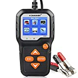KONNWEI KW650 6V 12V Car Battery Tester, 100-2000 CCA Battery Load Tester Automotive Battery and Alternator Tester for Vehicles/Marine/Motorcycle/Lawn Mover Father's Day Gift