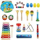 LEADSTAR Juguetes de Instrumentos Musicales, Juguetes Músicales de Percusion para Bebes, Instrumentos Musicales Infantil, Juguetes de Educación Temprana con Mochila de Almacenamiento