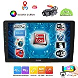 EINCAR Android Car Stereo GPS Navigation System 10.1 inch Bluetooth Head Unit Double 2 Din Car Radio FM/AM Receiver 2GB RAM Fastboot Support WiFi USB/SD Subwoofer 1080P Mirrorlink Free Backup Camera