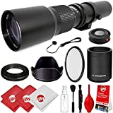 Opteka 500mm/1000mm f/8 Manual Telephoto Lens for Sony a9, a7R, a7S, a7, a6500, a6300, a6000, a5100, a5000, a3000, NEX-7, NEX-6, NEX-5T, NEX-5N, NEX-5R, 3N and other E-Mount Digital Mirrorless Cameras