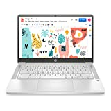 HP Chromebook 14a-na0003TU 14-inch Thin & Light Touchscreen Laptop (Intel N4020/4GB/64GB SSD + 256GB Expandable/Chrome OS/1.46 kgs Light), Mineral Silver
