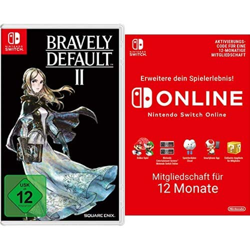 Bravely default II [Nintendo Switch] + Nintendo Switch Online Mitgliedschaft - 12 Monate | Switch Download Code