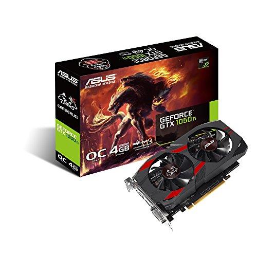 ASUS CERBERUS-GTX1050TI-O4G, Tarjeta Gráfica (GeForce GTX 1050 Ti, 4GB, GDDR5, 128 bit, 7680 x 4320 Pixeles, PCI Express 3.0, 1480 MHz), GeForce 9800 GTX+, 1480 MHz