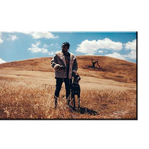 linshel Travis Scott American Hip Hop Music Rapper Star Personalizzato Stampa Artistica Poster Tela...
