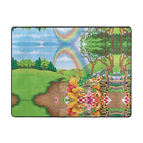Winnie Pooh Rainbow Soft Area Rugs Bedroom Carpets for Living Room Bedroom Kids Room Girls Room Nursery Home Decor Carpet 63 X 48 Inches